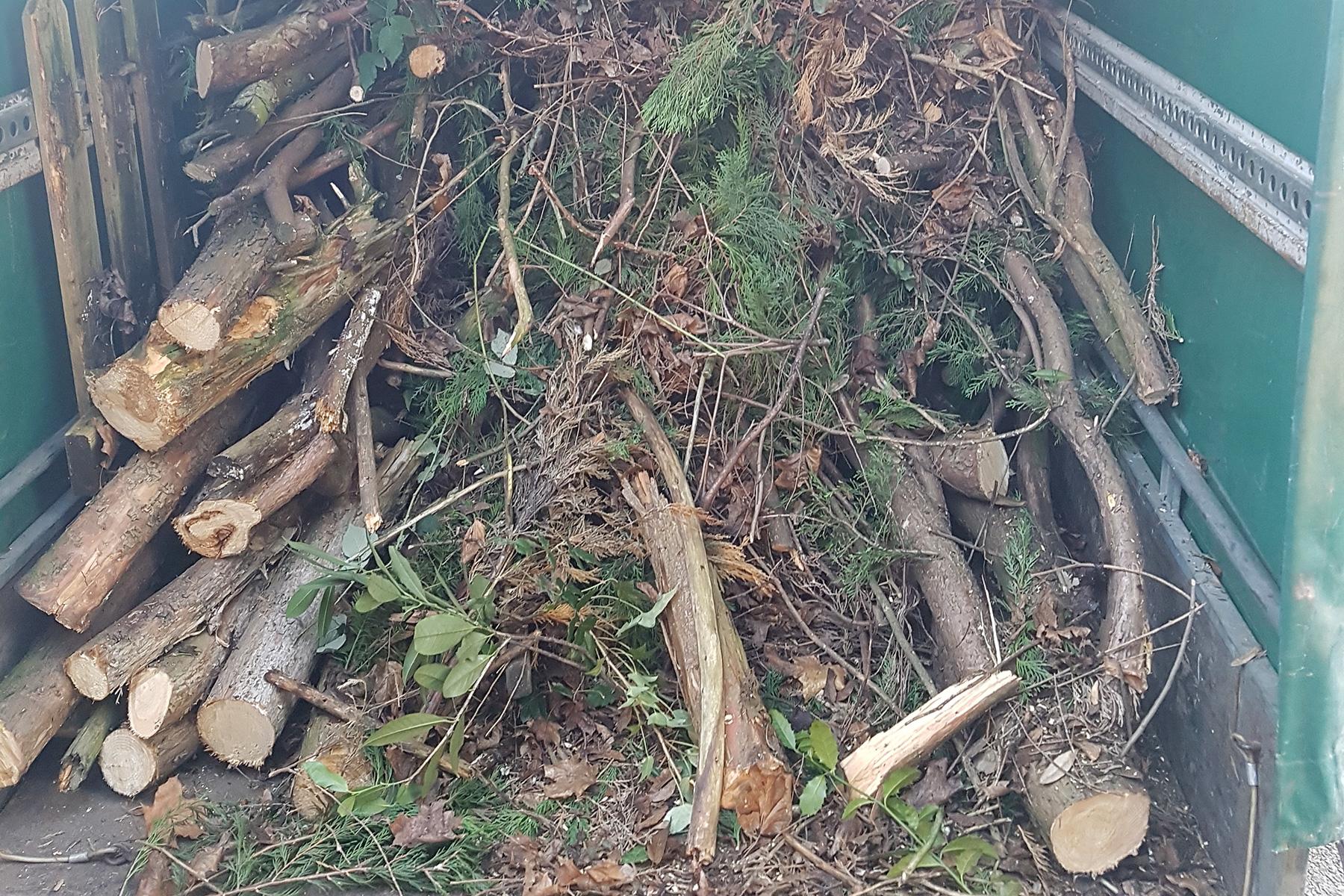 Gartenpflege Wojtkowski Gehölzschnitt Entsorgung von Schnittgut